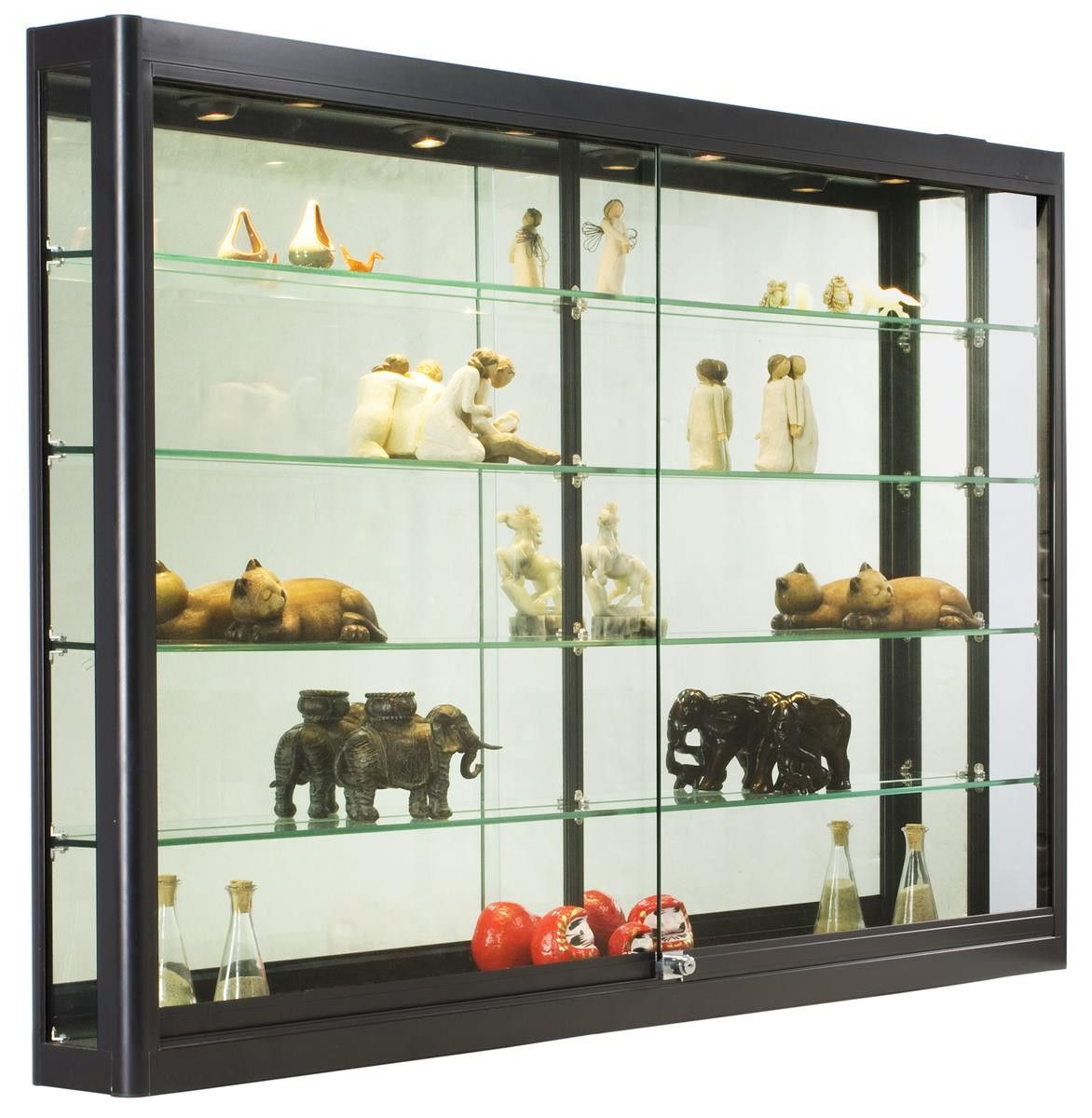 2019 Glass Display Cabinets For Collectibles Kitchen Cabinet Inserts Ideas Che Glass Cabinets Display Wall Mounted Display Cabinets Wall Mounted Display Case