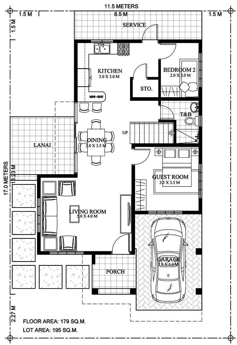 Elegant Six Bedrooms Double Storey House Plan Cool House Concepts In 2020 Double Storey House Plans Double Storey House Duplex House Plans