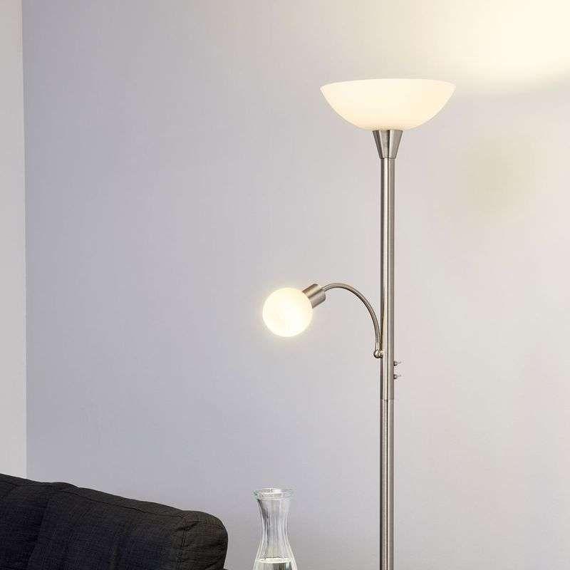 Elaina 2 Lichts Led Vloerlamp Mat Nikkel Vloerlamp