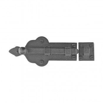 Black Slide Door Bolt Lock Wrought Iron 4 Inch Wide | Home ...