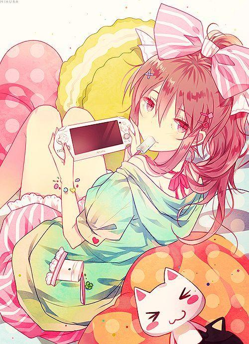 Girl cute gamer anime 651+ Gamer