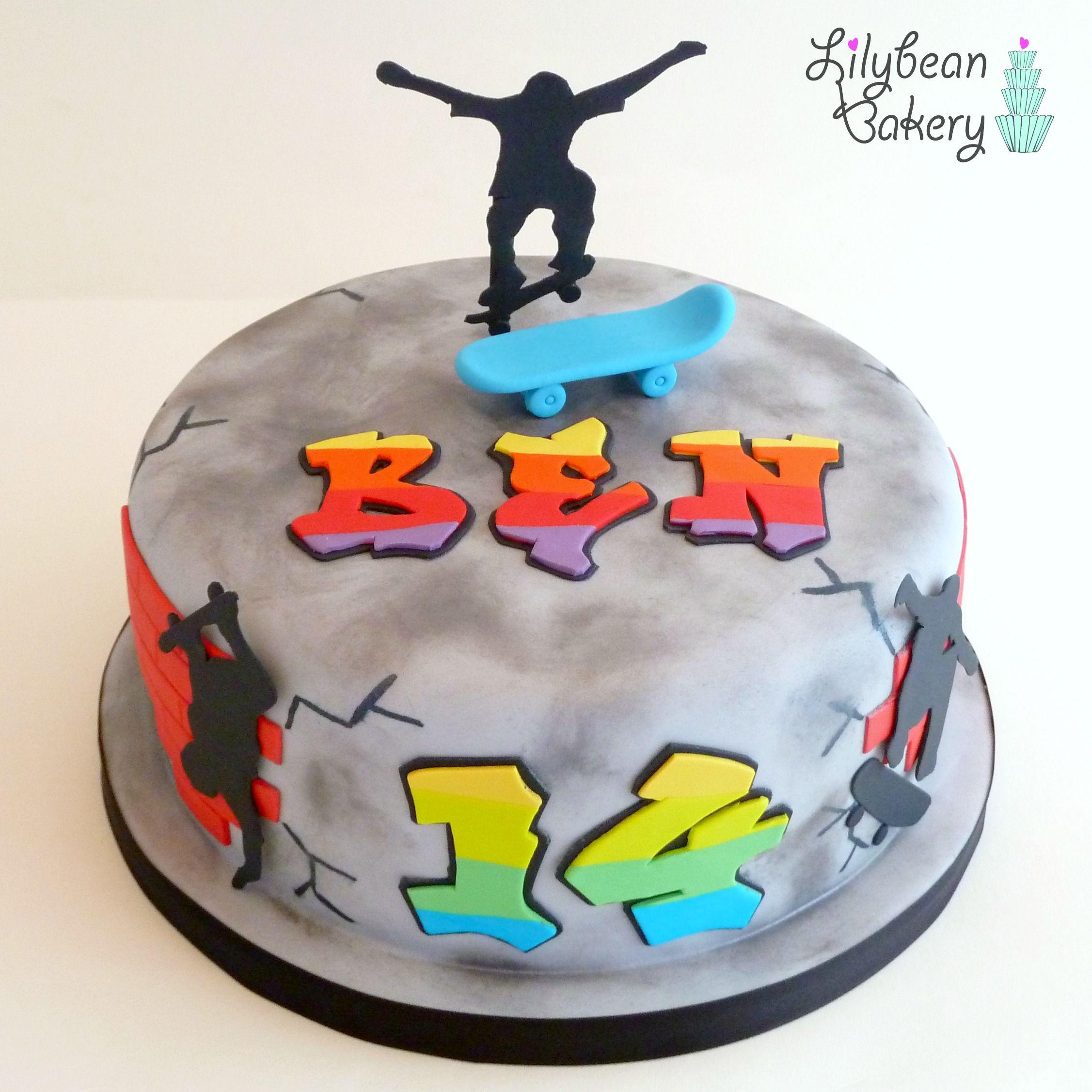 Skate Board Graffiti Cake Skateboard Cake Cake Cupcake Cakes