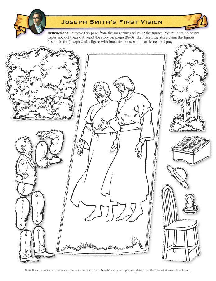 Joseph Smith, 1st Latter Day Prophet | Primary | Pinterest ...