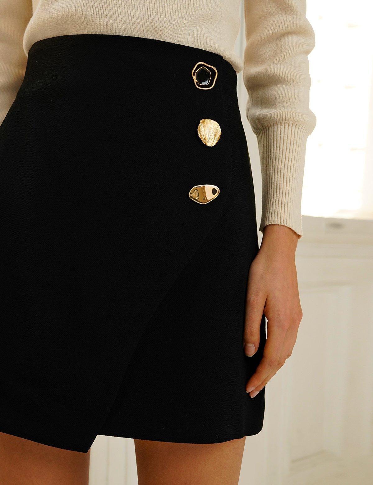 9f76ae6937 Riley Black Button Mini Skirt in 2019   spring19   Mini skirts ...