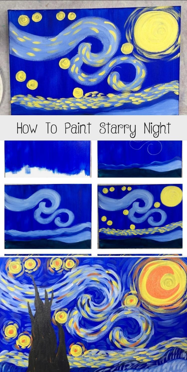This is a simplified easy version of the famous Starry Night by Vincent Van Gog
