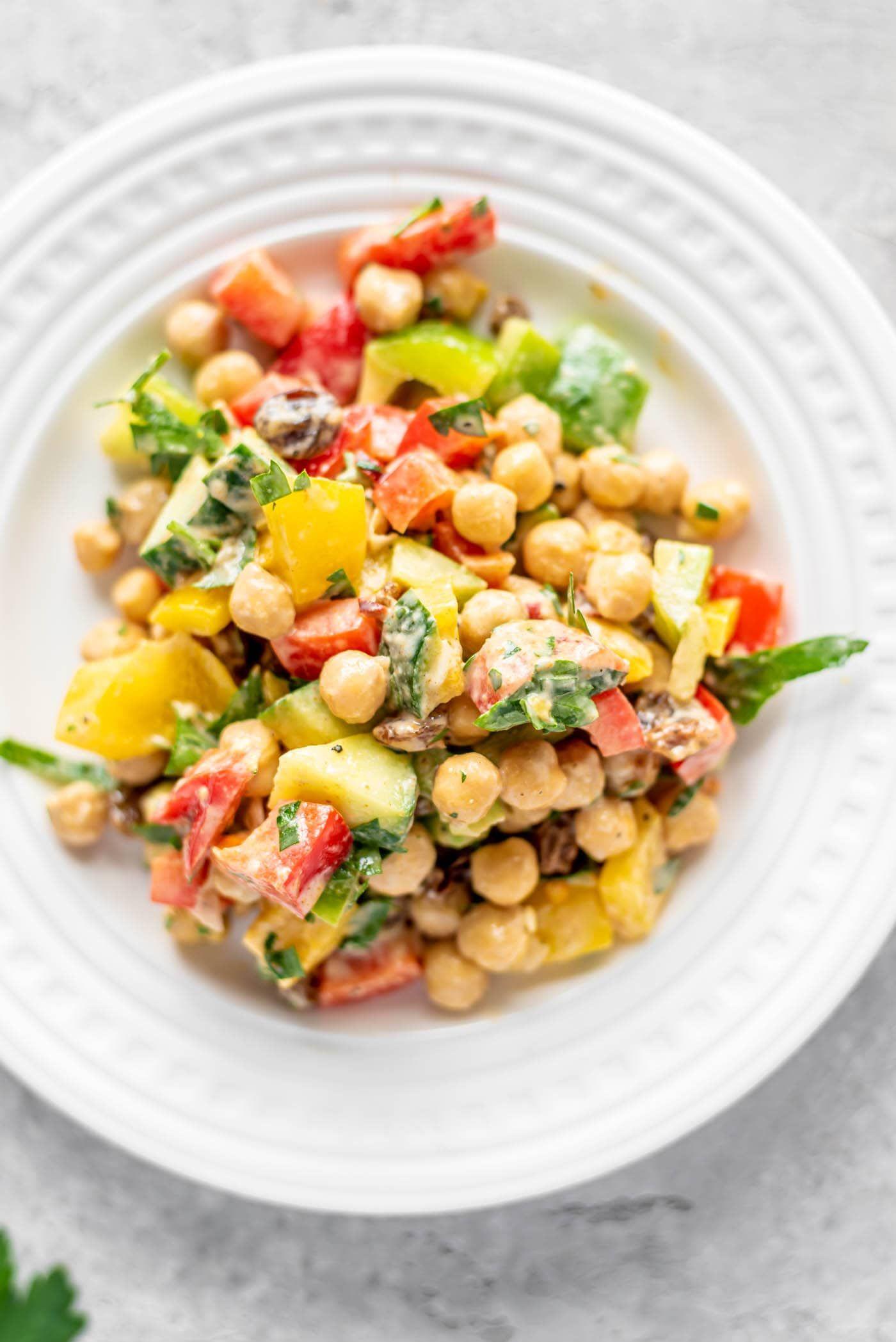 Chickpea Bell Pepper Salad
