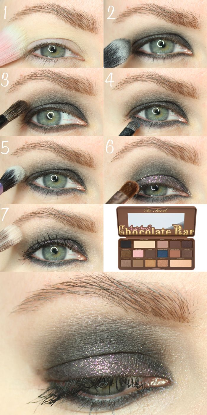 Too faced semi sweet smoky chocolate bar tutorial for hooded eyes too faced semi sweet smoky chocolate bar tutorial baditri Images