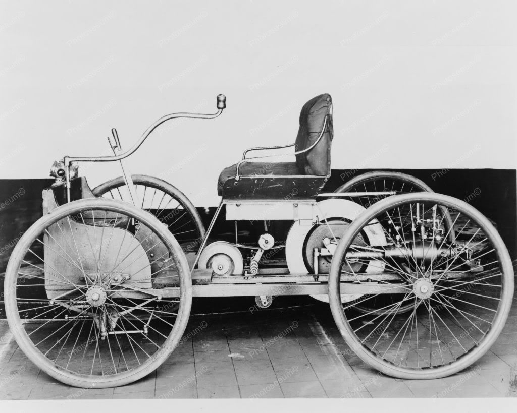 Ford First Automobile 1896 Quadricycle 8x10 Reprint Of Old Photo 1 ...