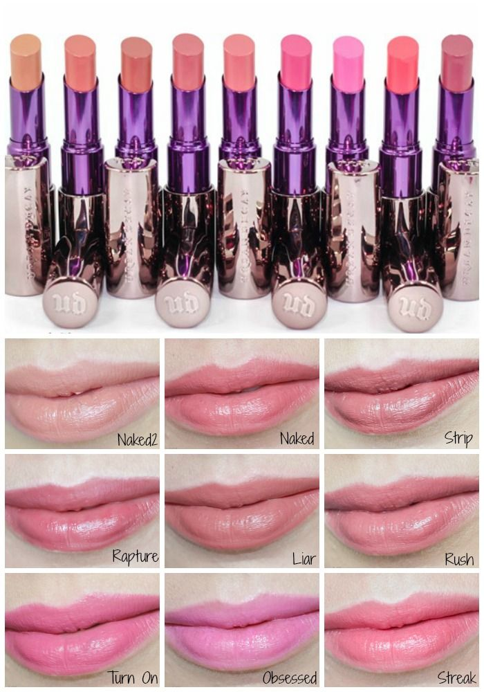 Urban Decay Sheer Revolution Lipsticks - Preview and Swatches