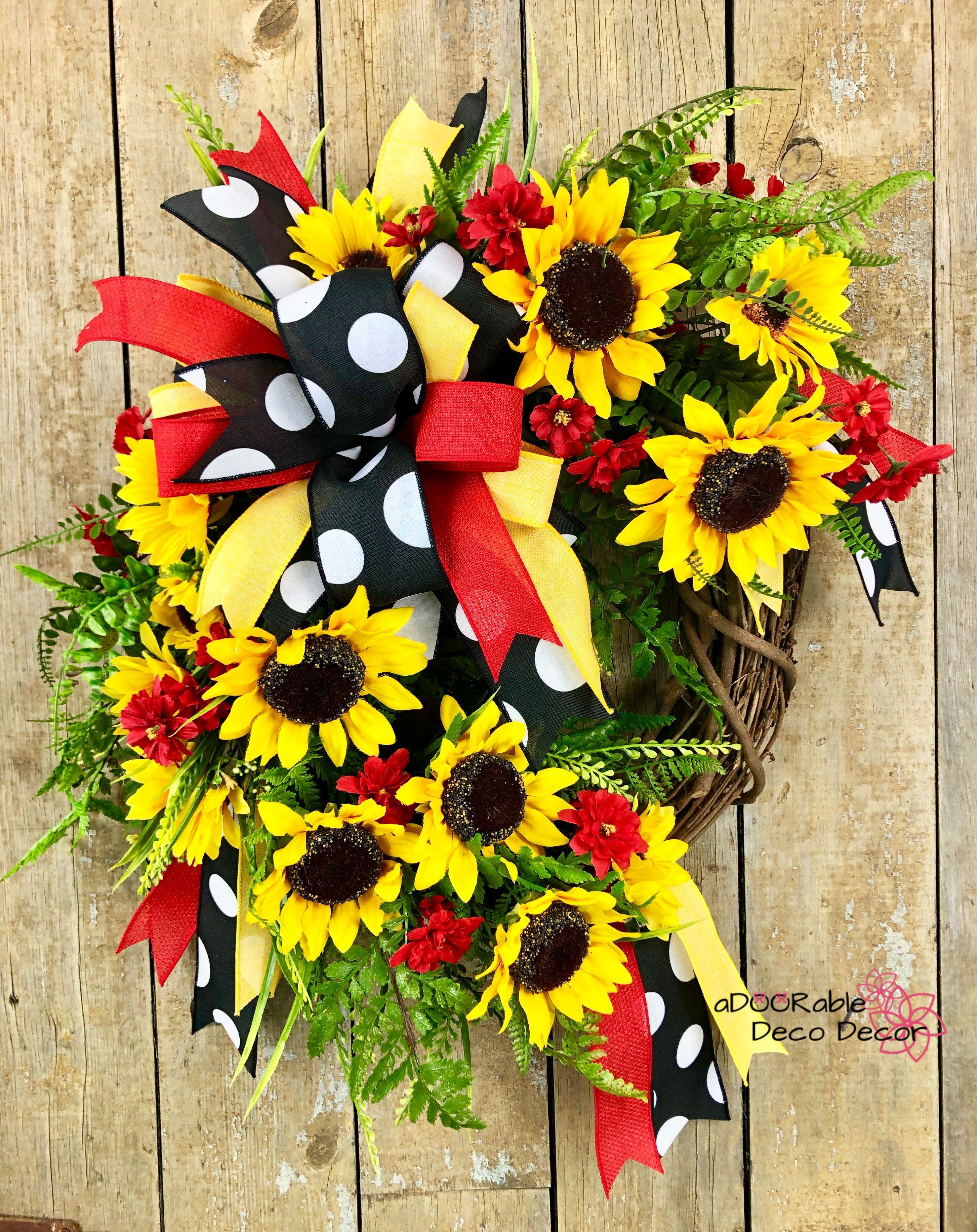Photo of Sunflower wreath for front door