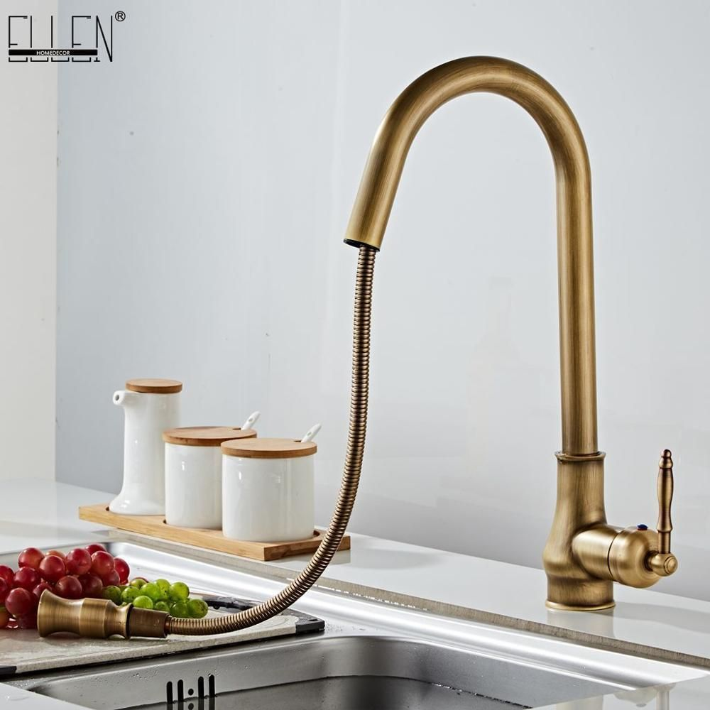 Antique Bronze Kitchen Faucets Pull Out Hot Cold Sink Swivel 360 Degree Water Faucet Water Mixer Pull D Bronze Kitchen Faucet Kitchen Faucet Kitchen Mixer Taps