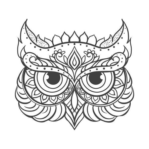 De Animales Con Buhos Y Lechuzas Mandalas Animales Dibujos