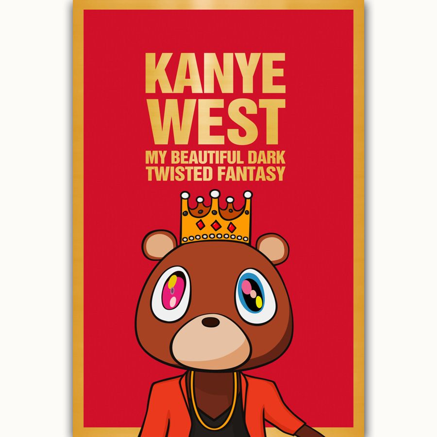 Kanye West Rap Music Hip Hop Album Cover Silk Canvas Poster Home Decoration Wall Picture Print Price 11 78 Free Shipp Kanye West Canvas Poster Album Covers