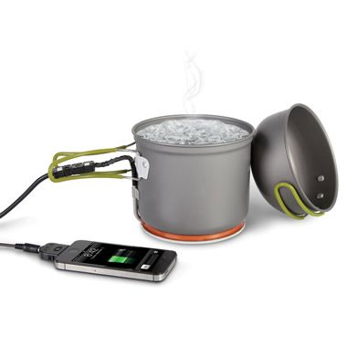 emergency charger that can restore the drained batteries of electronic devices by boiling water