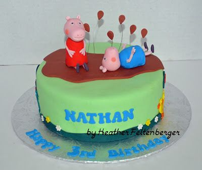 Peppa Pig and George Vegan Birthday Cake My Cakes Pinterest