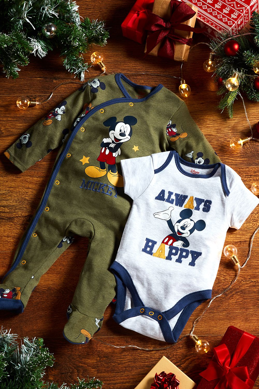 Mini Club Baby Boys Girls My First Christmas Sleepsuit Bib Hat Outfit Gift Set