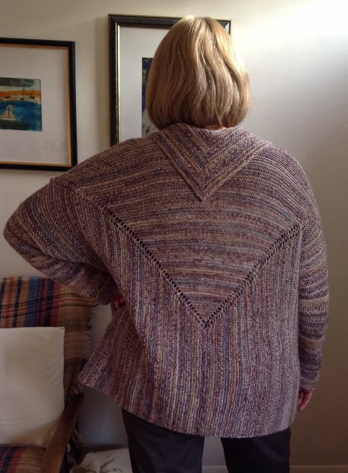 Free Loom Knitting Patterns For Scarves : The Oseberg jacket made by Meryl in #dropsdesign Fabel! Looks   ! http://www....