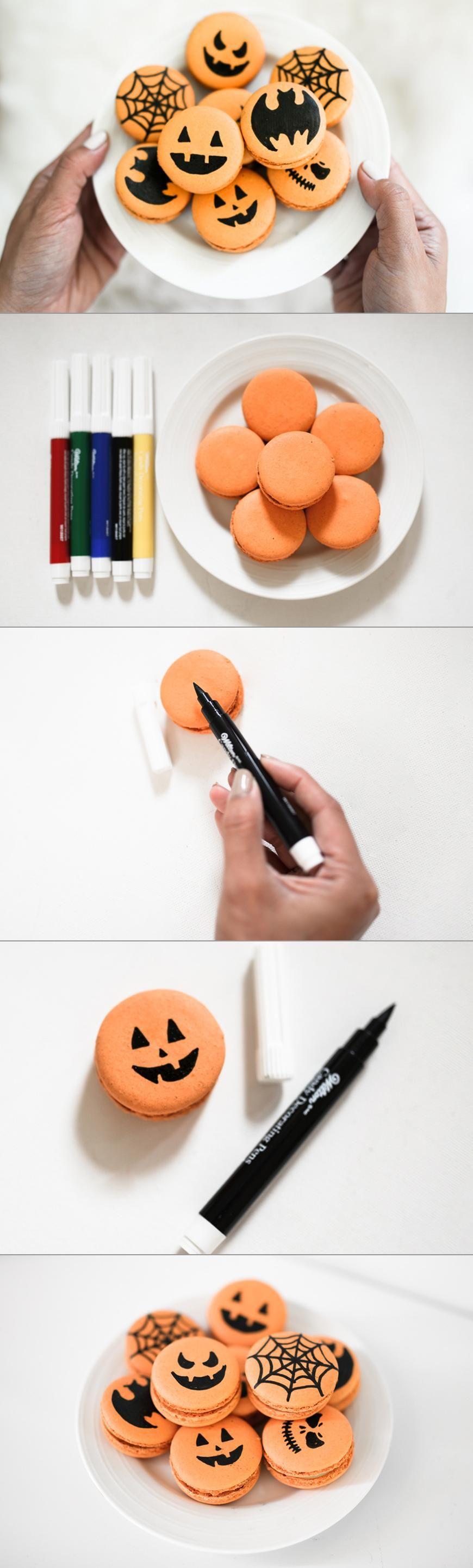 DIY Halloween Macarons
