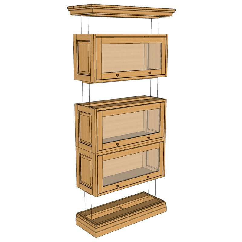 Small_barrister_bookcase2. Barrister BookcaseBookcasesBookcase ... - Stacking Barristers Bookcase Classic Project Woodworking Plan En