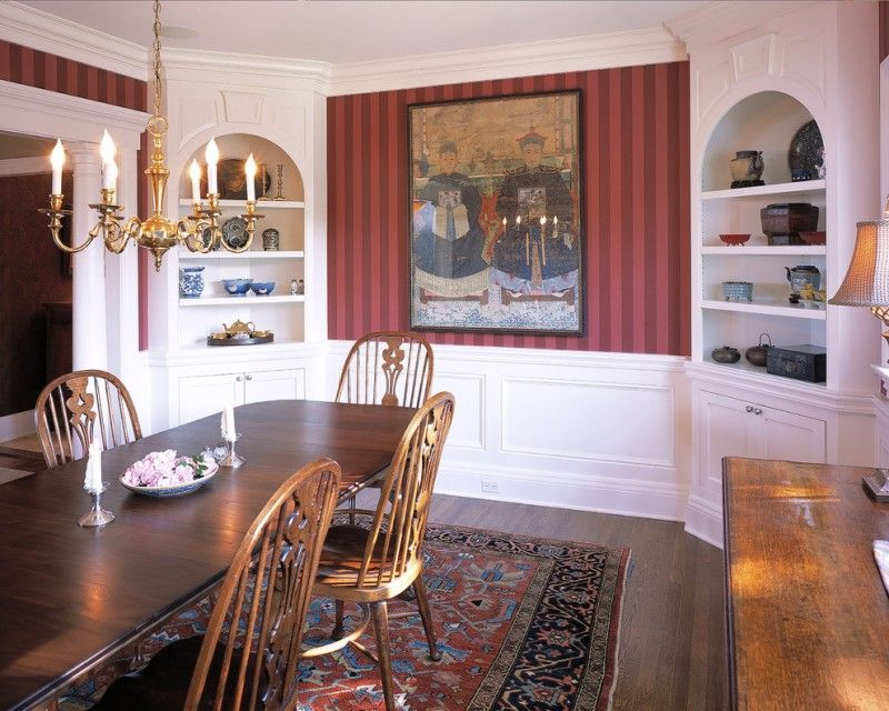 Built In Corner Cabinets And Shelves White Beautiful China Painting The Center Wood Dining