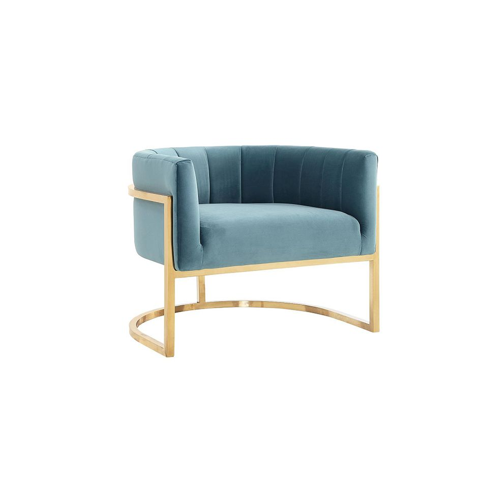 Best Greta Teal Chair With Gold Base Blue Accent Chairs Teal 400 x 300