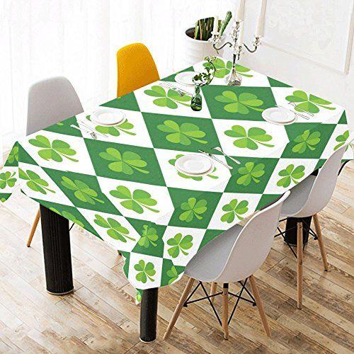 InterestPrint Tablecloth St.Patricku0027s Day Theme Home Decor 52 X 70 Inch,  Shiny Shamrocks