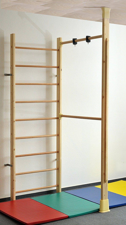 Kletterdschungel Holz Sprossenwand Indoor Sportgerät mit Reck und ...
