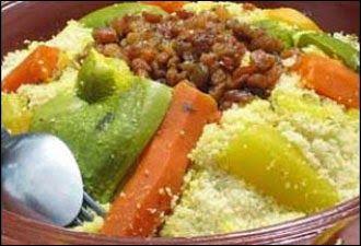 طريقة تحضير الكسكسي بالخضروات واللحم