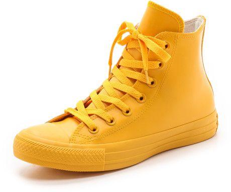 48da8aca59108e Converse Rubber Coated Chuck Taylor All Star Sneakers - Wild Honey in Yellow  (Wild Honey)
