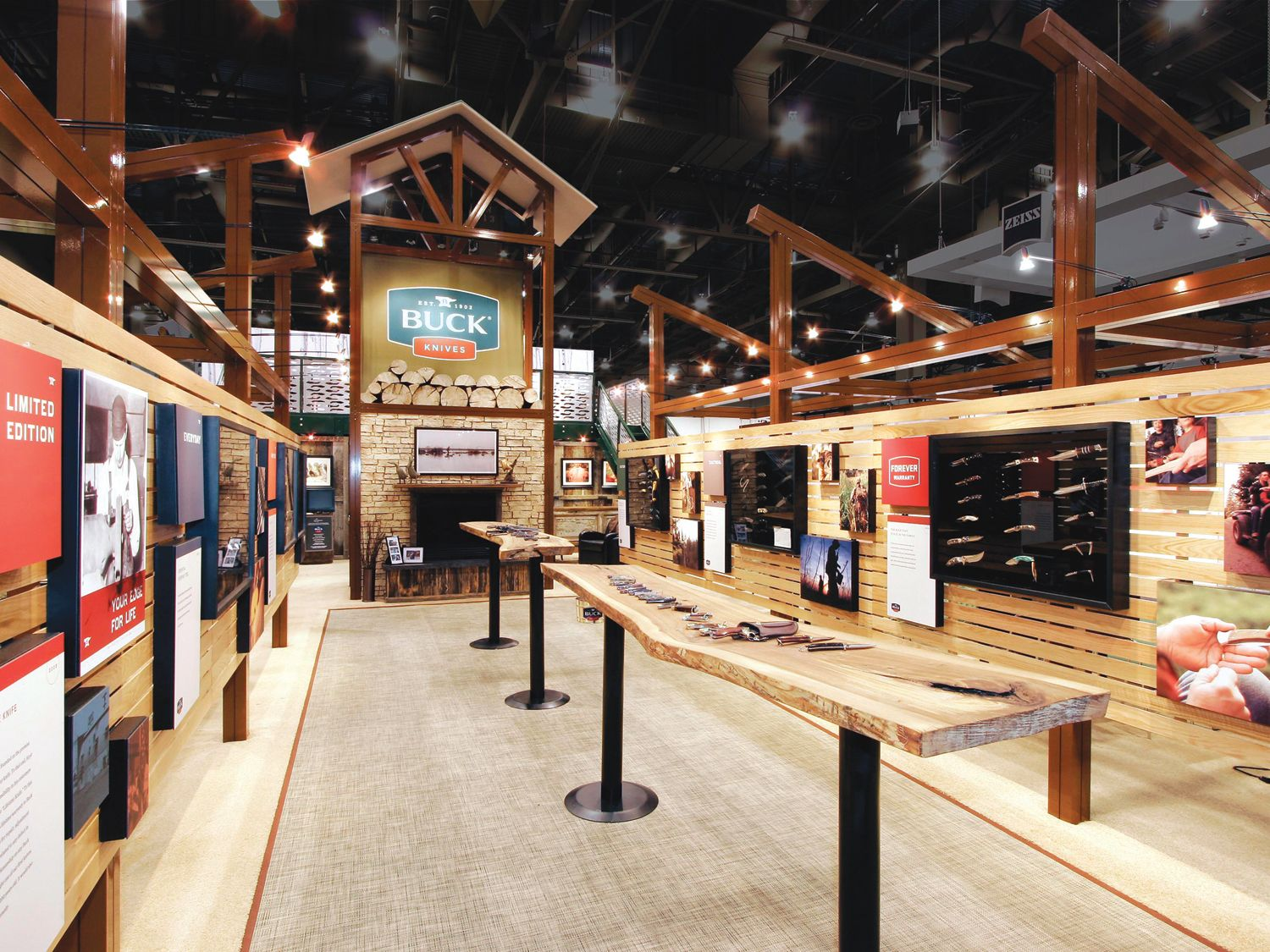 Exhibits and trade show booths custom built branded
