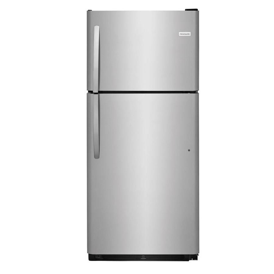 Frigidaire Lftr2021tf 20 4 Cu Ft Top Freezer Refrigerator Easycare In Stainless Steel Top Freezer Refrigerator Glass Refrigerator Refrigerator