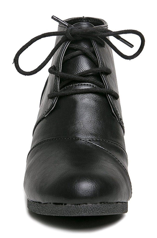 8ce87b763c0b City Classified Rex-S Women s Lace Up Wedge High Heel Bootie Boots ...