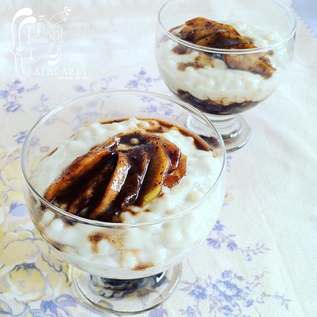 Paladares {Sabores de nati }: Tapioca con leche y manzanas pochadas (Reto Cooking the Chef)