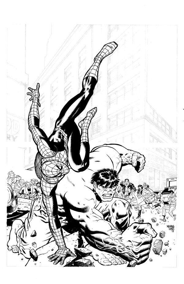 Spiderman Vs Hulk By Lopezmichael On Deviantart Marvel Comics Superheroes Hulk Spiderman Vs Hulk