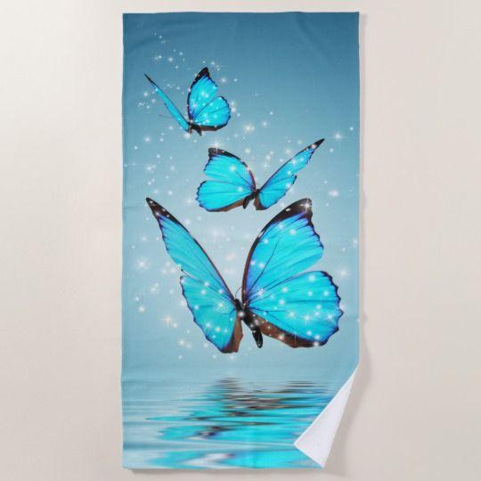 Magic Butterflies Beach Towel