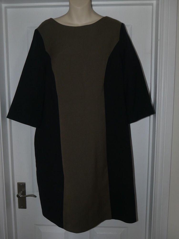 Ladies Kahrki Black Shift Dress Size 20 Versatile Outfit Fashion