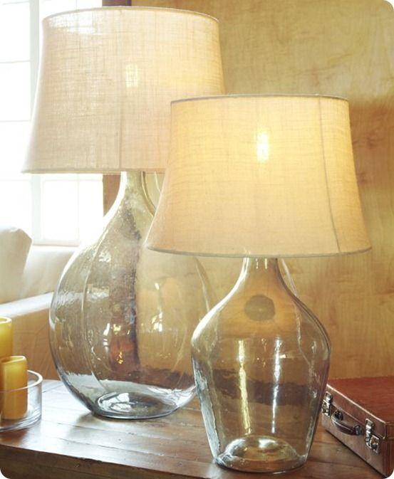 Glass Bottle Lamp Knockoffdecor Com Glass Table Lamp Glass Jar Lamps Diy Bottle Lamp