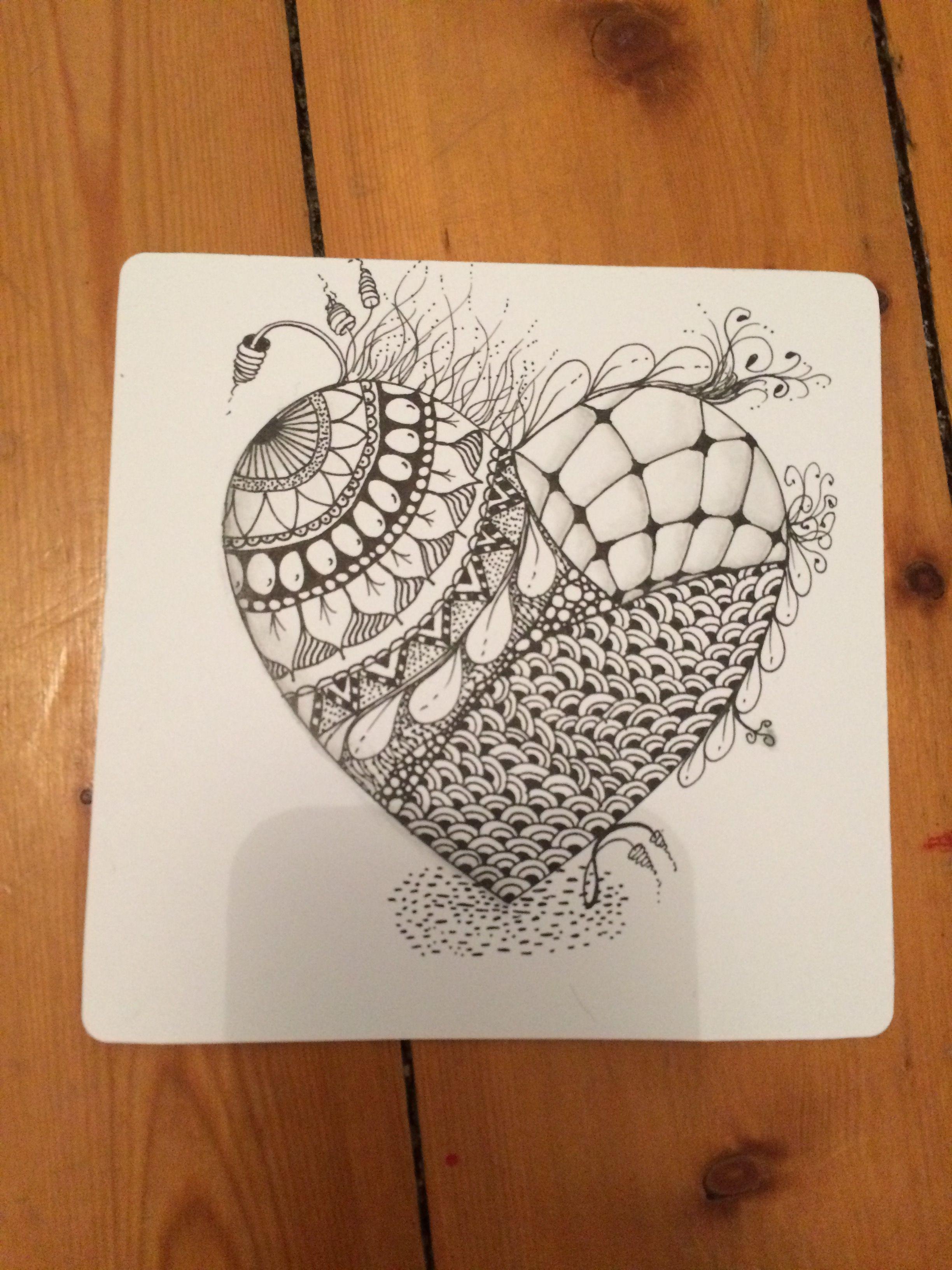 Herz Gezeichnet Herz Zeichnen Herzen Gezeichnet Zentangle Zeichnungen