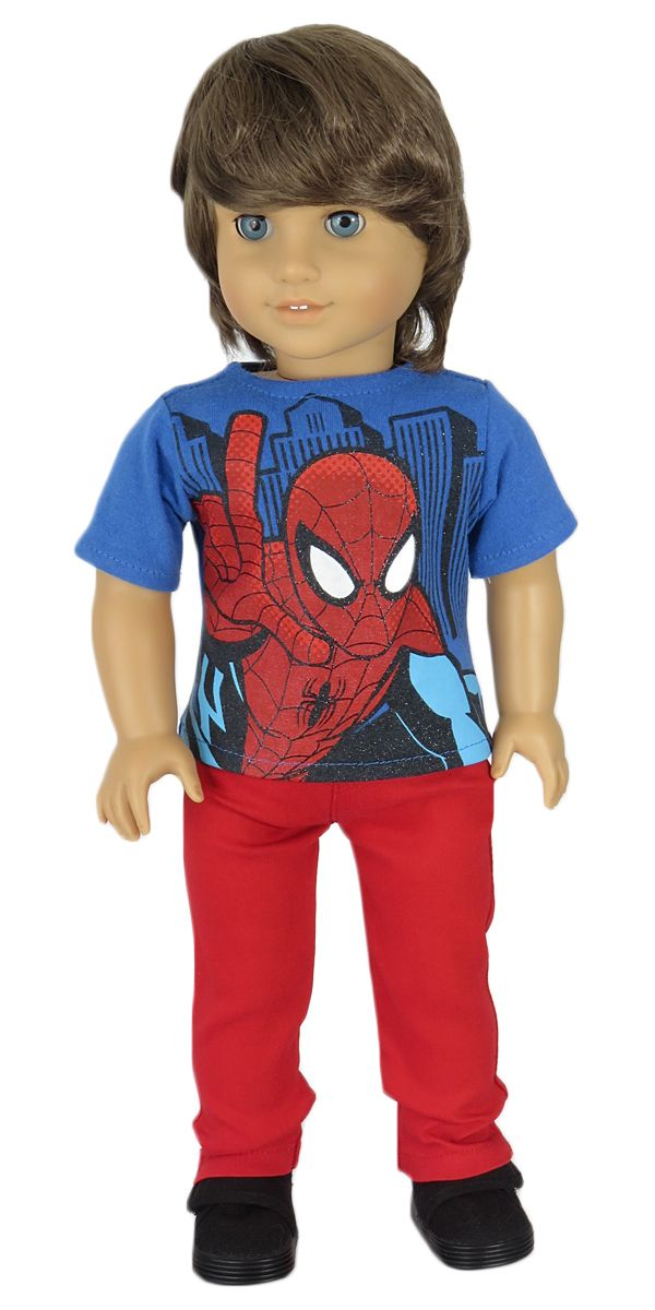 American Boy Doll Clothes | Spider-Man Superhero tee and ...