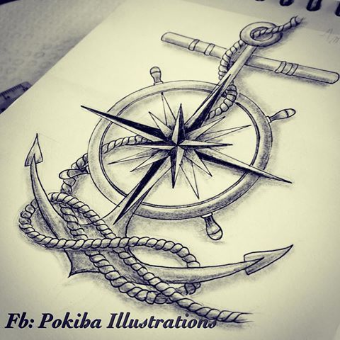 Image result for compass and anchor tattoo | TATTOOS ...