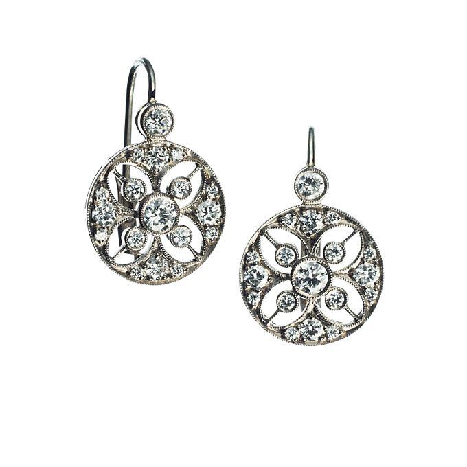 Eigh Karat White Gold Earrings With Diamonds Price Upon Request Kwiat