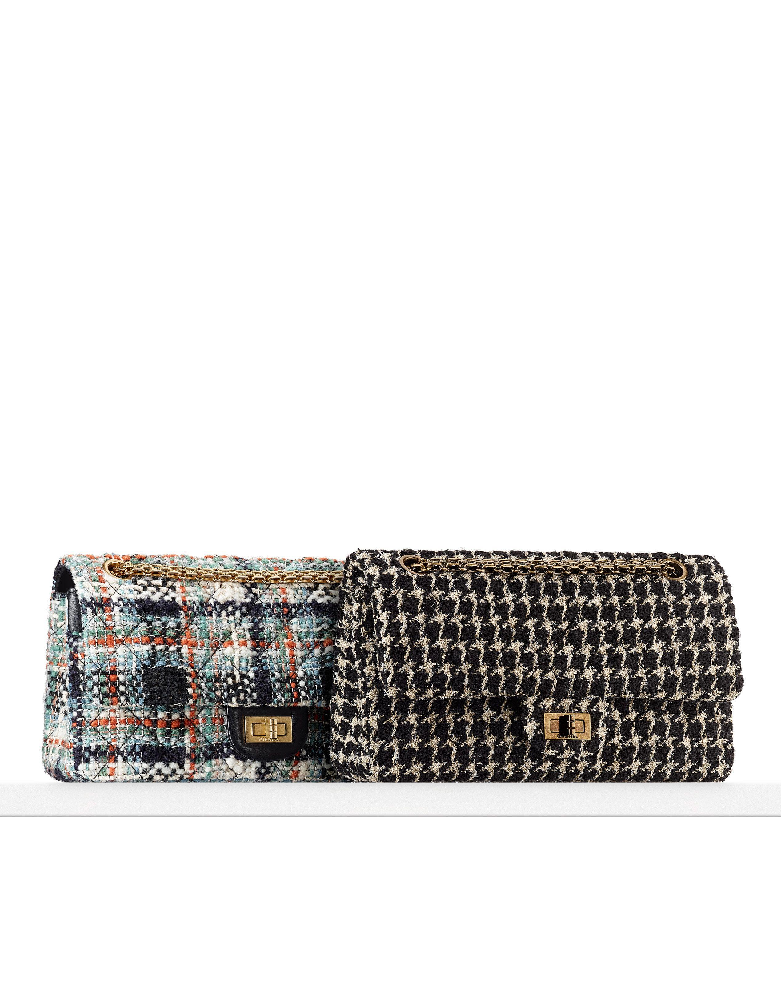 87a860315f787c 2.55 flap bag, tweed-multicolor ecru - CHANEL | Fashion | Chanel ...