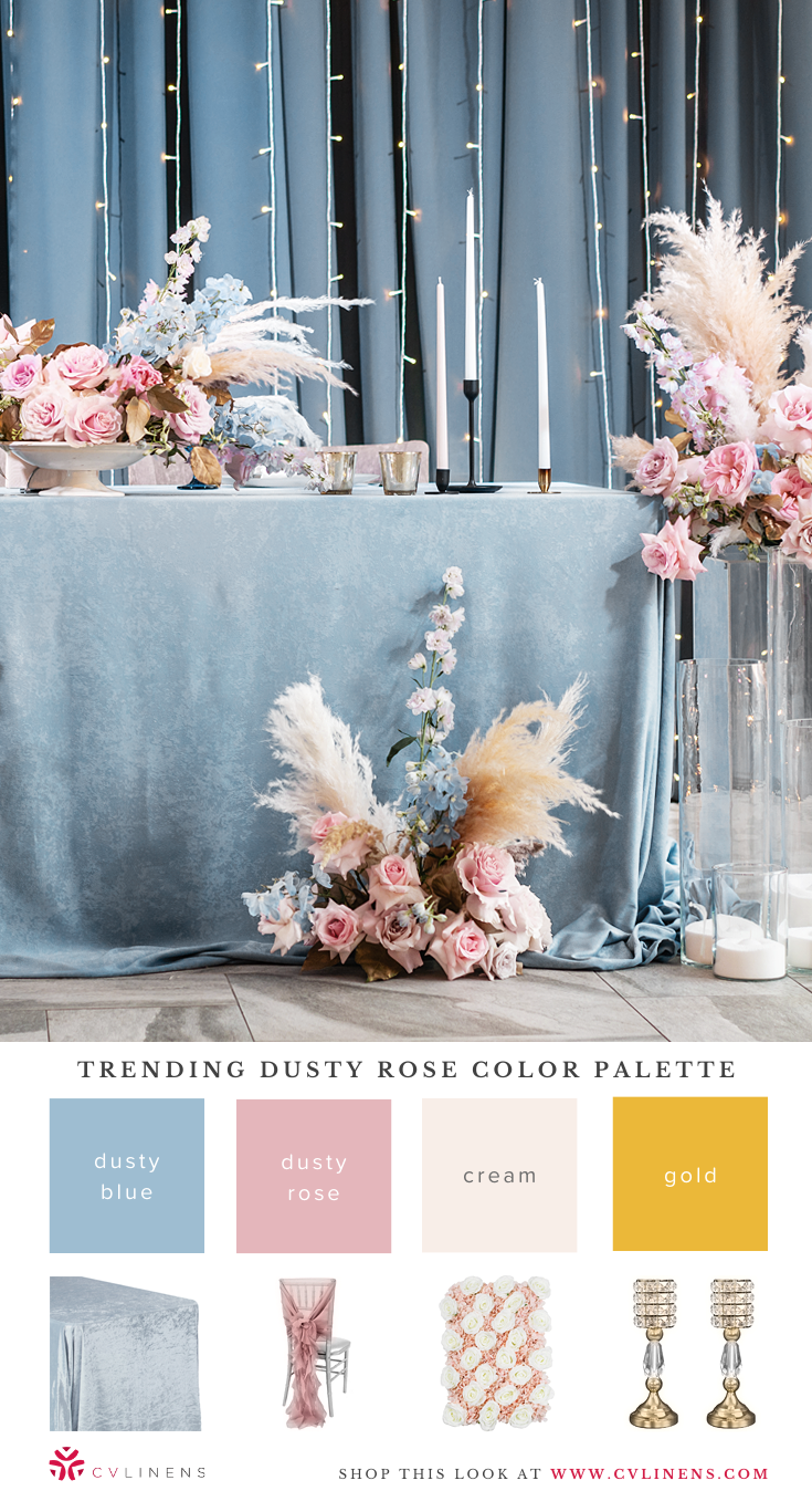 Trending Dusty Rose Wedding Color Palettes   Dusty rose wedding, Dusty rose wedding theme, Dusty ...