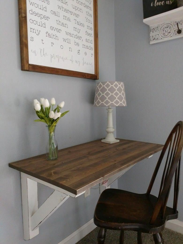 If You Don T Have An Entire Room As Your Office But Just A Small Space Available This Diy Corner Desk Would Be A Perfect Fit Fo Decor Kitchen Desks Room Desk
