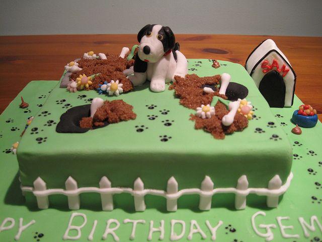 Fabulous Naughty Puppy Birthday Cake With Images Puppy Birthday Cakes Funny Birthday Cards Online Hendilapandamsfinfo
