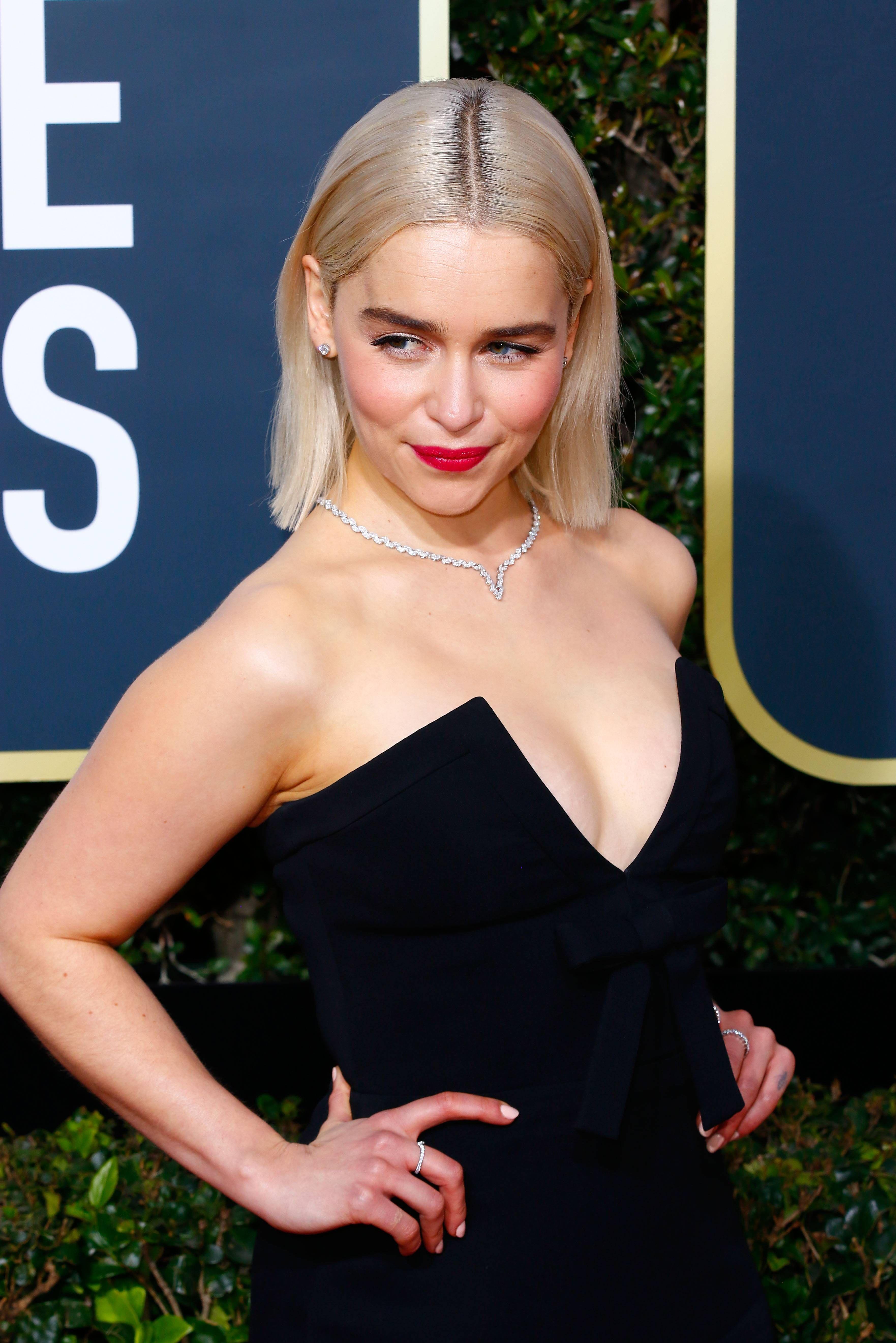 Emilia Clarke Golden Globes 2018