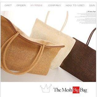 super gran capacidad 2014 mujeres bolso bolsa de playa bolsas tejidas bolsa de paja bolsa rota en Bolsos Bandolera de Bolsos y Maletas en AliExpress.com | Alibaba Group