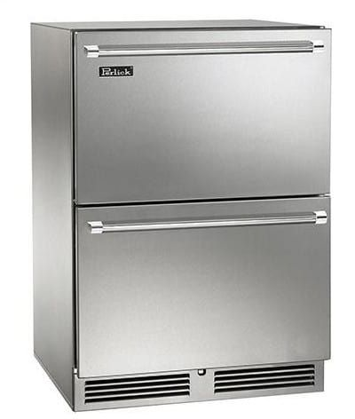 Perlick Hpzs  Inch Undercounter Freezer Refrigerator Drawers With  Cu Ft Capacity