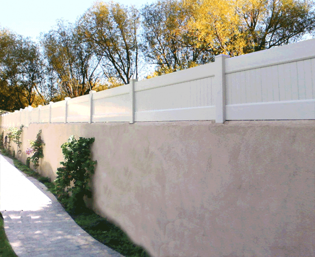 Privacy Extension On Stucco Fence Fence Wall Privacy Walls Fence Toppers Wall Exterior