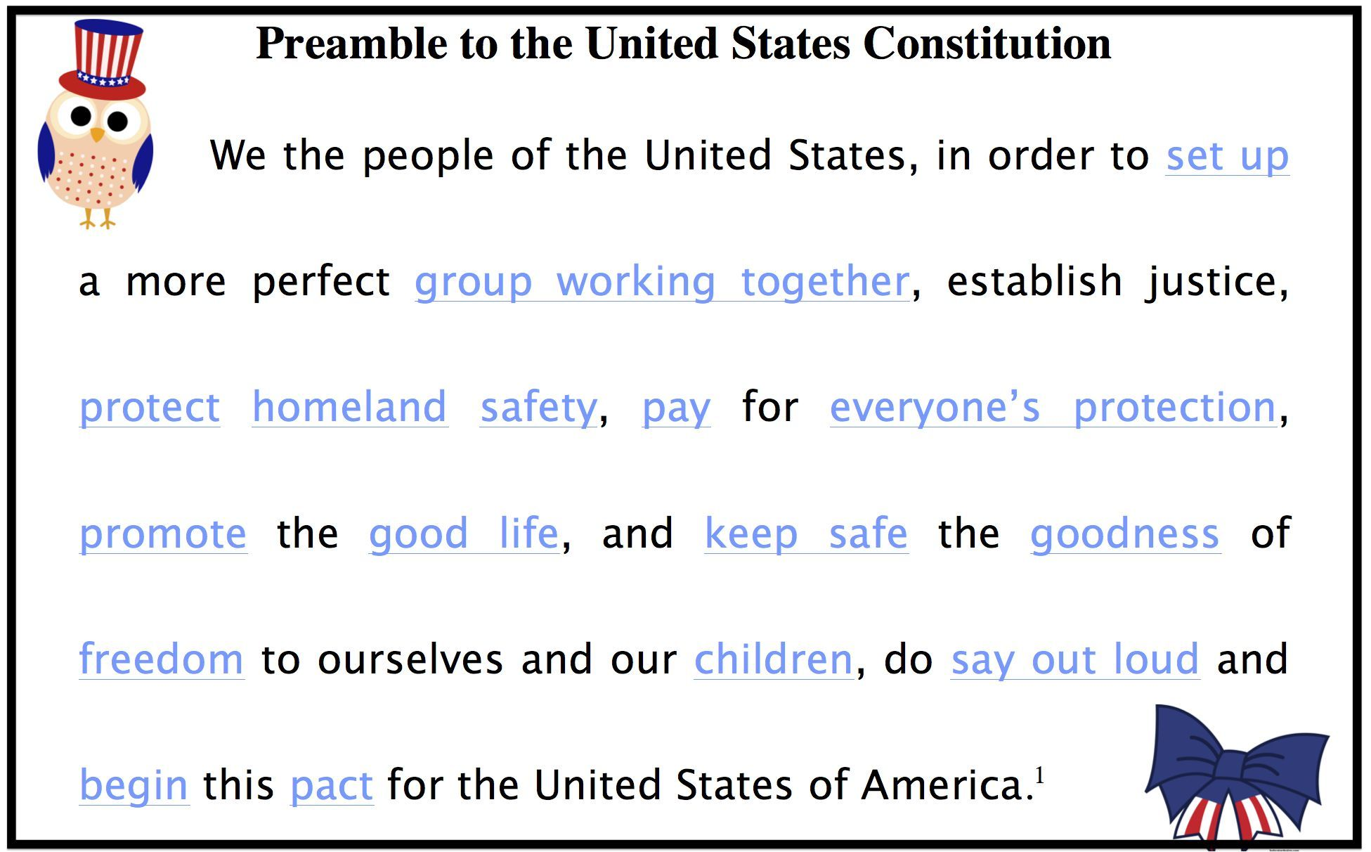 Constitution Week Common Core Free Downloads